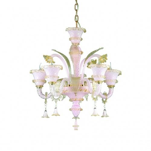 Подвесная люстра Ideal Lux Antonietta SP5 Rosa