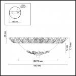 Настенный светильник Odeon Light Balasa 2726/3C