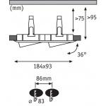 Встраиваемый светодиодный светильник Paulmann Nova 92902