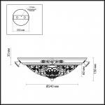 Потолочный светильник Odeon Light Bone 2692/2C