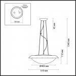 Подвесной светильник Odeon Light Zita 2753/3