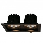 Встраиваемый светодиодный светильник Arte Lamp Privato A7018PL-2BK