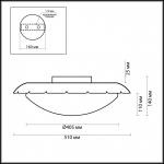 Потолочный светильник Odeon Light Zita 2753/3C