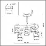 Потолочная люстра Odeon Light Marti 2616/5C