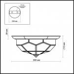 Потолочный светильник Odeon Light Clerk 2271/3C