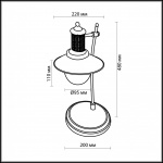 Настольная лампа Odeon Light Tarsu 2617/1T