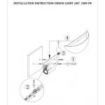 Настенный светильник Odeon Light Riza 2269/1W