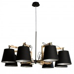 Подвесная люстра Arte Lamp Pinoccio A5700LM-8BK
