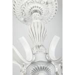 Подвесная люстра Eurosvet Эммануэль 10049/5 белый с серебром/прозрачный хрусталь Strotskis