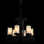 Подвесная люстра Arte Lamp Scroll A7915LM-6BK