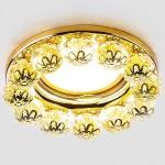 Встраиваемый светильник Ambrella light Crystal K203 CL/G