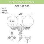 Уличный фонарь Fumagalli Ricu Bisso/G300 3L G30.157.S30.BXE27