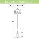 Уличный фонарь Fumagalli Ricu Bisso/Anna 2+1 E22.157.S21.BXF1R