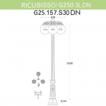 Уличный фонарь Fumagalli Ricu Bisso/G250 3Ldn G25.157.S30.BYE27DN